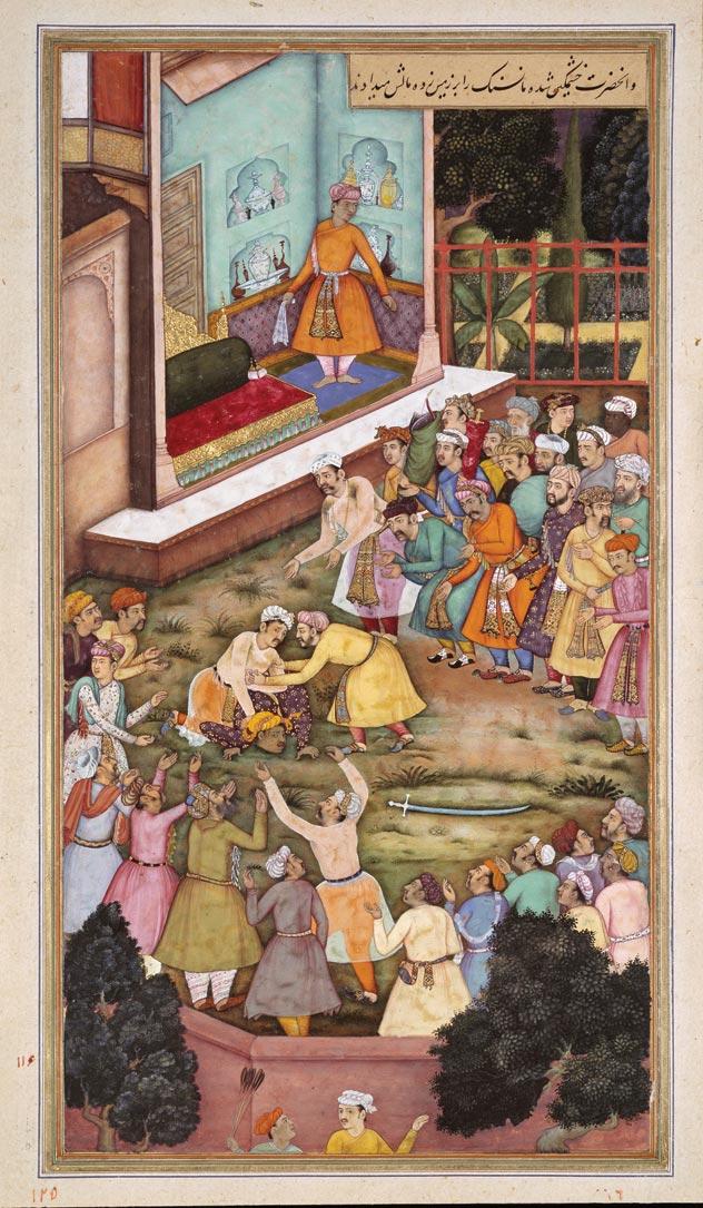 Akbar_Fights_with_Raja_Man_Singh